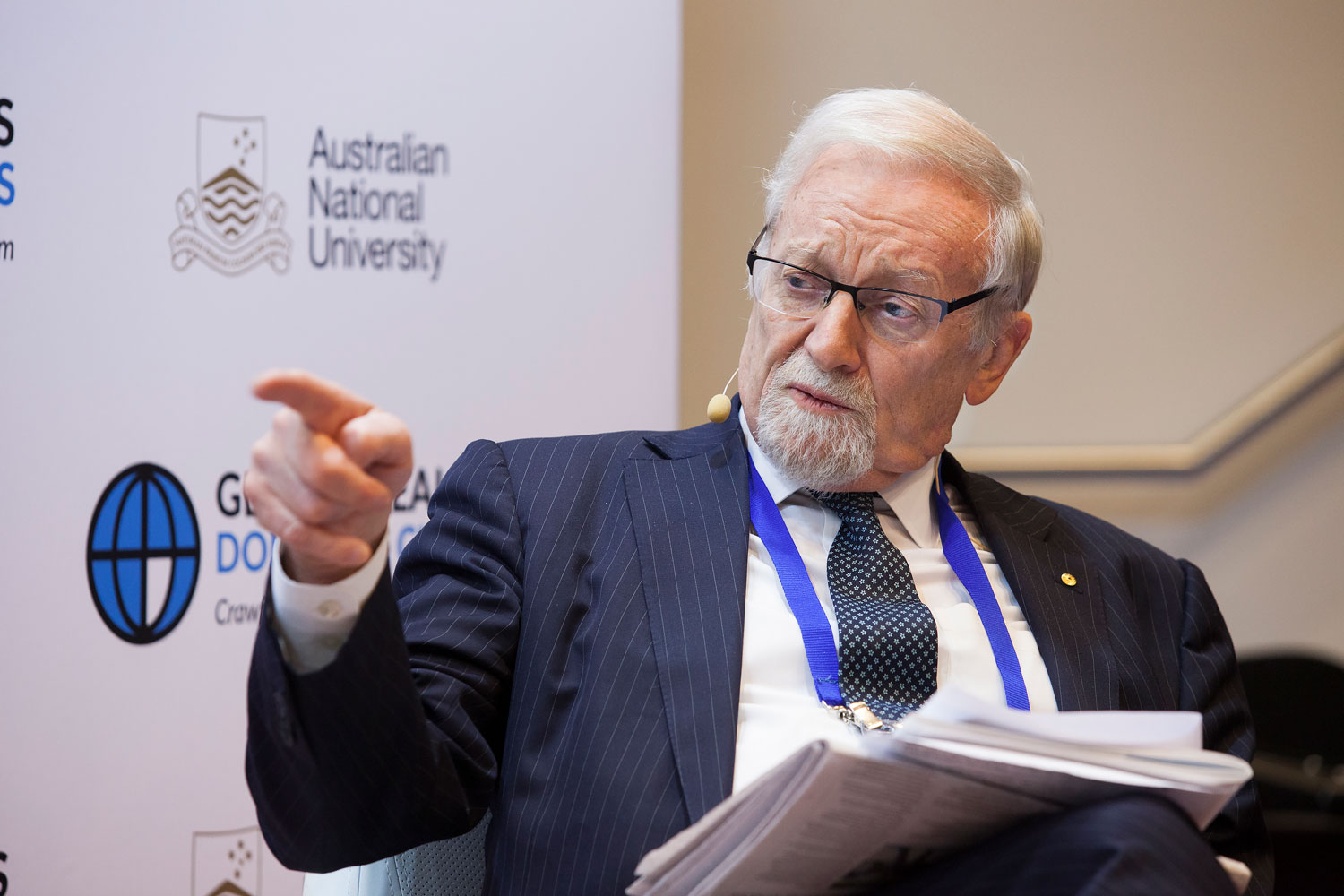 Australian politician Gareth Evans. Story on the Cheryl Kernot Affair, written by John Harrison, UQ academic, historian and journalist. (The University of Queensland)